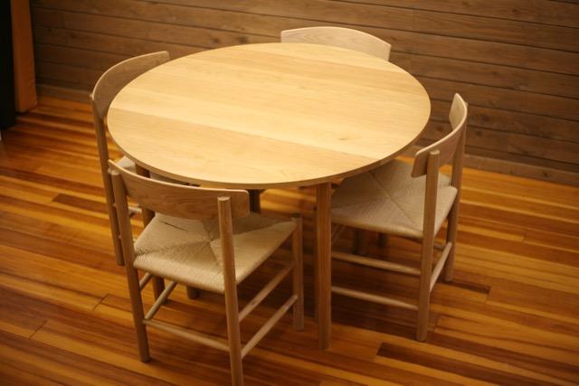 オーク テーブル 円形 丸