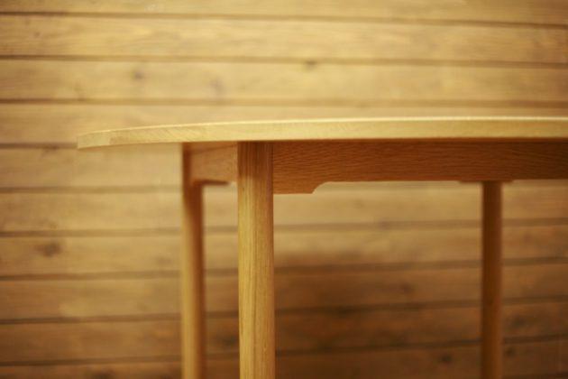 オーク テーブル 丸