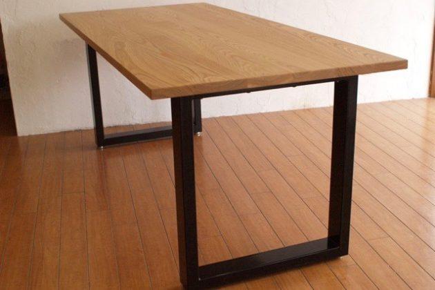 オーク テーブル 鉄 スチール