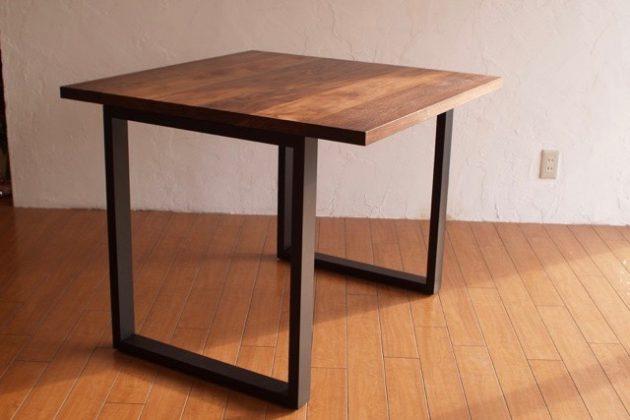 スチールレッグ テーブル ウォールナット