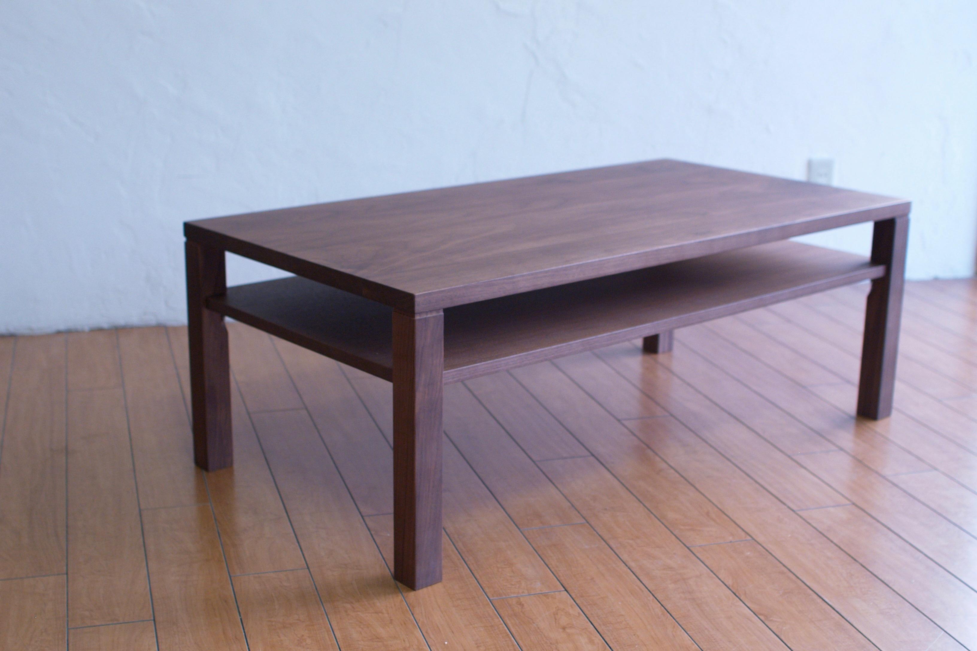 ローテーブル ウォールナット かわいい