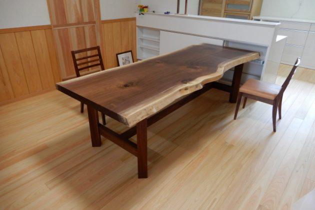 ウォールナット 無垢 一枚板 テーブル