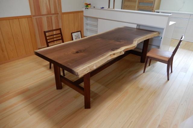 ウォルナット一枚板 テーブル